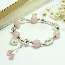rose quartz crystal bracelet images Sinya girls rose quartz bracelet in 925 sterling silver pink jpg