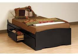 Black Twin Bed Bedroom Glamorous Black Twin Beds With Storage Drawers Twin