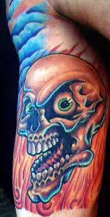 skull on arm