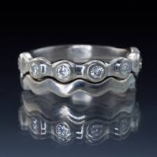 palladium jewelry half eternity bridal set wedding rings palladium size 6 8