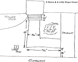 example sketch of ramp plan free ramp design plans from handi plans detailing how to build a ramp handi ramp free ramp design plan worksheet