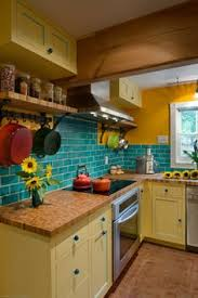 colorful kitchen backsplashes 19 inexpensive ways to fix up your kitchen photos yellow