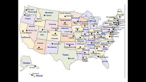 Maine State Usa Map by Usa Map With Capital Cities Youtube