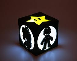 Super Mario Home Decor Super Mario Lamp Etsy