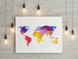 World Map Canvas Art by Wall Art Marvellous Canvas Art Diy Kids Canvas Art Diy