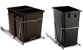 Kitchen Recycling Bins For Cabinets Talking Trash Chezerbey