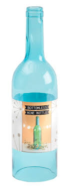 how to make a wine bottle l bottomless wine bottle blue leisurearts com