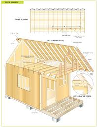 house affordable modern cabin plans with insulating sloped roof