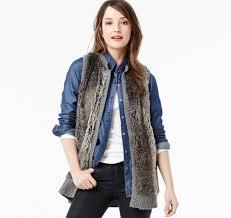 womens sweater vest faux fur sweater vest johnston murphy