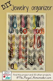 bracelet necklace organizer images Diy jewelry organizer day 15 of 31 days of pinterest pinned to done jpg