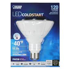 sub zero light bulb feit par38 120 watt cold start sub zero temp dimmable light bulb