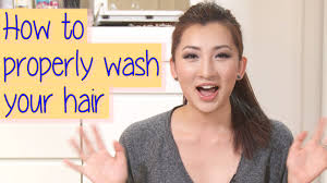 how to wash your hair in the sink how to properly wash your hair correct way youtube