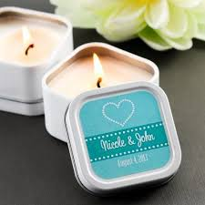 personalized candle wedding favors mini square personalized candle wedding favor http www beau coup