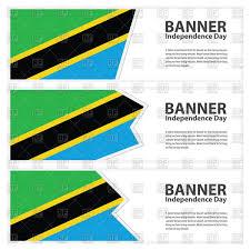 Flag Of Tanzania Tanzania Flag Banners Royalty Free Vector Clip Art Image 88904