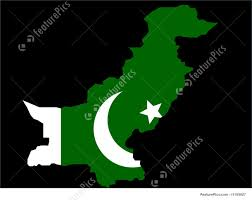 Oakistan Flag Illustration Of Map Of Pakistan And Pakistani Flag