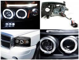 2007 dodge dakota lights dodge dakota 2005 2007 black dual halo projector headlights with