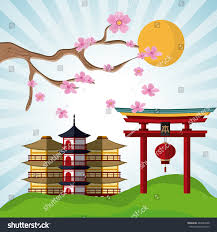 japan culture landmark design stock vector 485824588 shutterstock