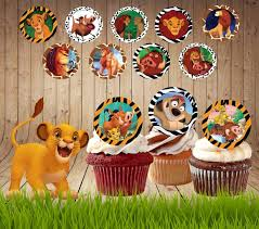 lion king cake toppers cupcake lable page 2 cardanz
