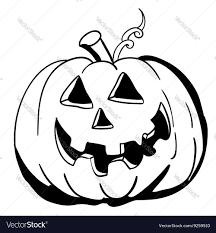 pumpkin black and white pumpkin black and white halloween pumpkin royalty free vector image