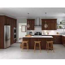 kitchen cabinets wall extension reddish brown kitchen cabinets kitchen the home depot