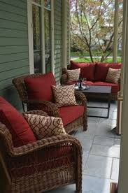 Small Space Patio Sets by Hampton Bay Blue Hill 5 Piece Patio Conversation Set With Blue