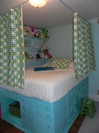 Small Bedroom No Dresser Claire U0027s Bedroom Repurposed Dressers Used To Lift Bed Slats