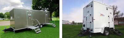luxury portable restroom trailers for rent on site co
