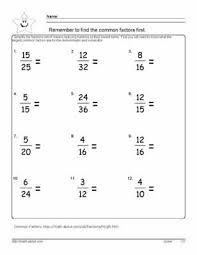 reducing fractions worksheet simplify basic fractions to their