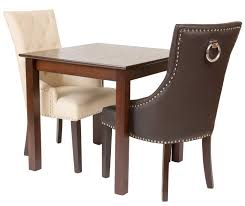 fontwell matt smart leather dining chair buttoned back smart