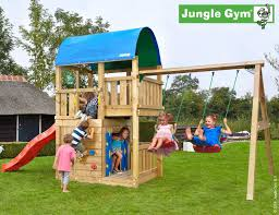 Double Swing Farm Climbing Frame Playhouse Module And Double Swing Play And