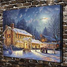 aliexpress com buy h1395 thomas kinkade snow christmas house