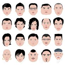 head shapes and hairstyles man face shape hairstyle round fat thin old royalty free cliparts