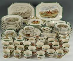 lot 126 copeland spode hunt dinnerware 88 pieces