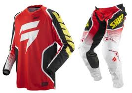 motocross jersey printing shift strike mx gear combo red super mx