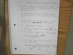 notebooks and worksheets from class second semester chemistry