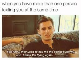Scott Disick Meme - when you have more than one person texting you at the same time