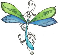 attractive dragonfly tattoo sample photos pictures and sketches