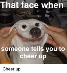 Cheer Up Meme - that face when someone tells you to cheer up cheers meme on me me