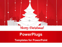 powerpoint template beautiful christmas decoration with gift