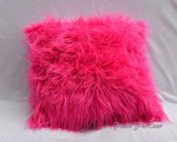 Faux Fur Comforter Pink Faux Fur Home Decor Pillows 18