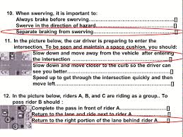 2017 dmv motorcycle released test questions part 1 written ca