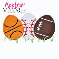 sports easter eggs boys sports easter egg applique embroidery design appliques