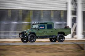 land rover pickup truck this corvette powered land rover defender 130 pickup is what
