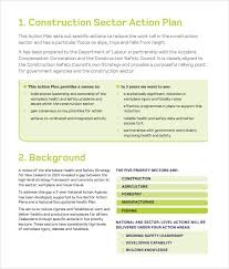construction business plan template 11 download free documents