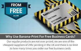 free business cards banana print 48hr dispatch