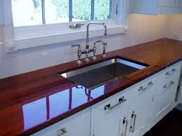 wide plank wood countertop details brooks custom high polished wood countertop