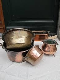 ustensile de cuisine en cuivre ensemble de 5 ustensiles de cuisine en cuivre xix populaire