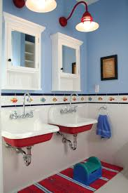 bathroom trough sink eclectic with kids sinks