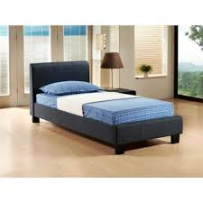 buy pebble grey fabric bed frame double 4ft 6