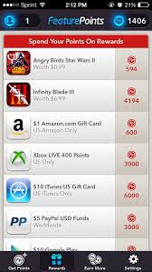 gift card reward apps featurepoints earn rewards for trying free apps geekwithenvy